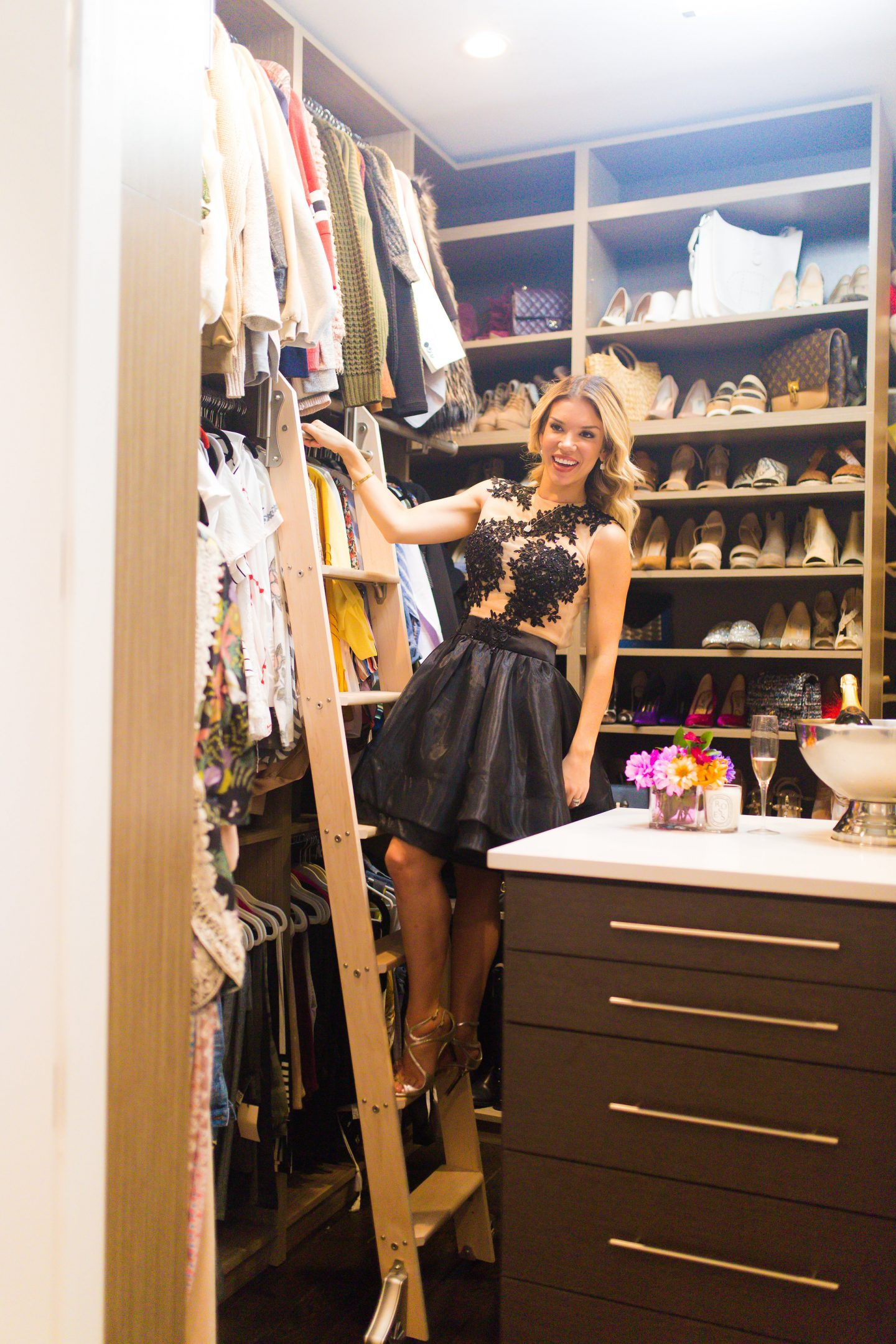 chicago blogger, dr. Michael horn, closet tour, closet organizing