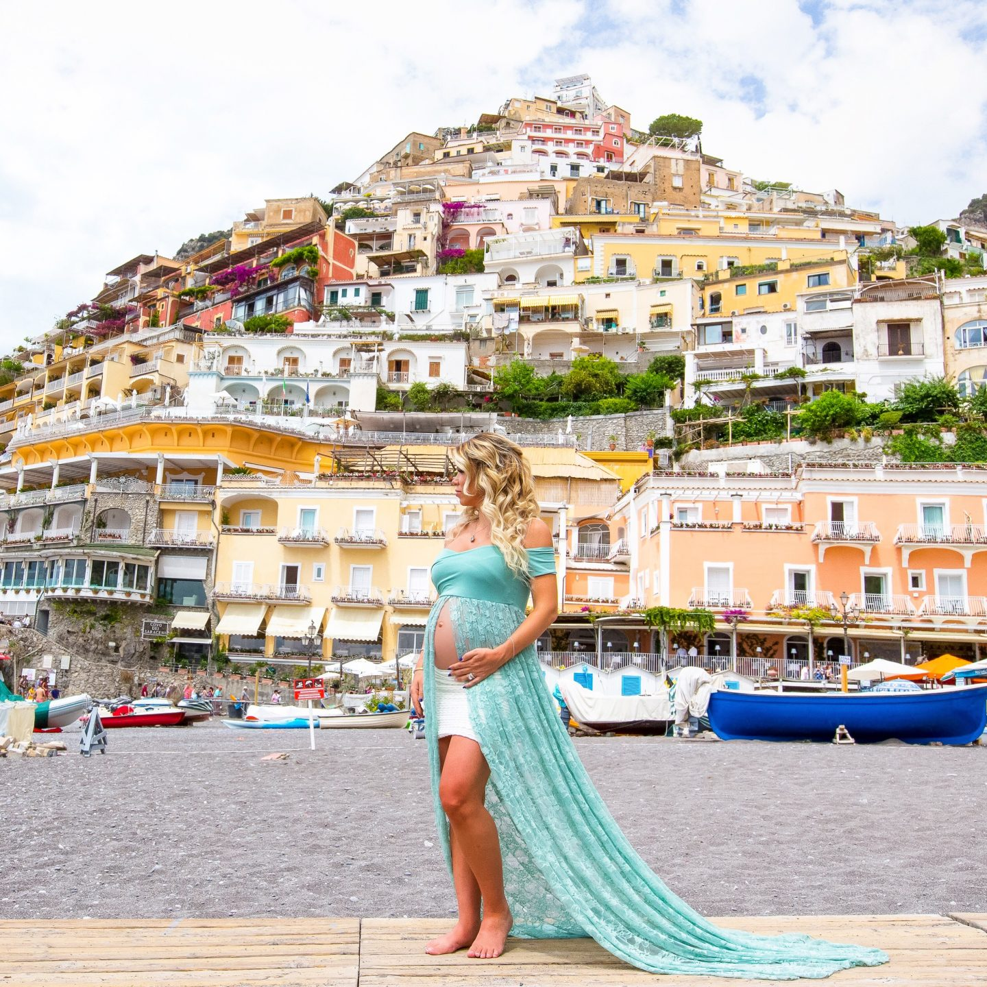 Positano, Pregnancy Announcement, Babymoon